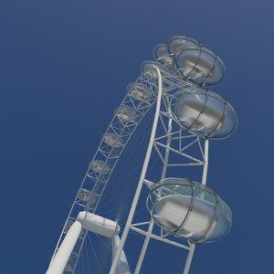 observation wheel 3d model