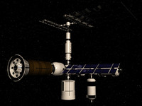 space station 3d max