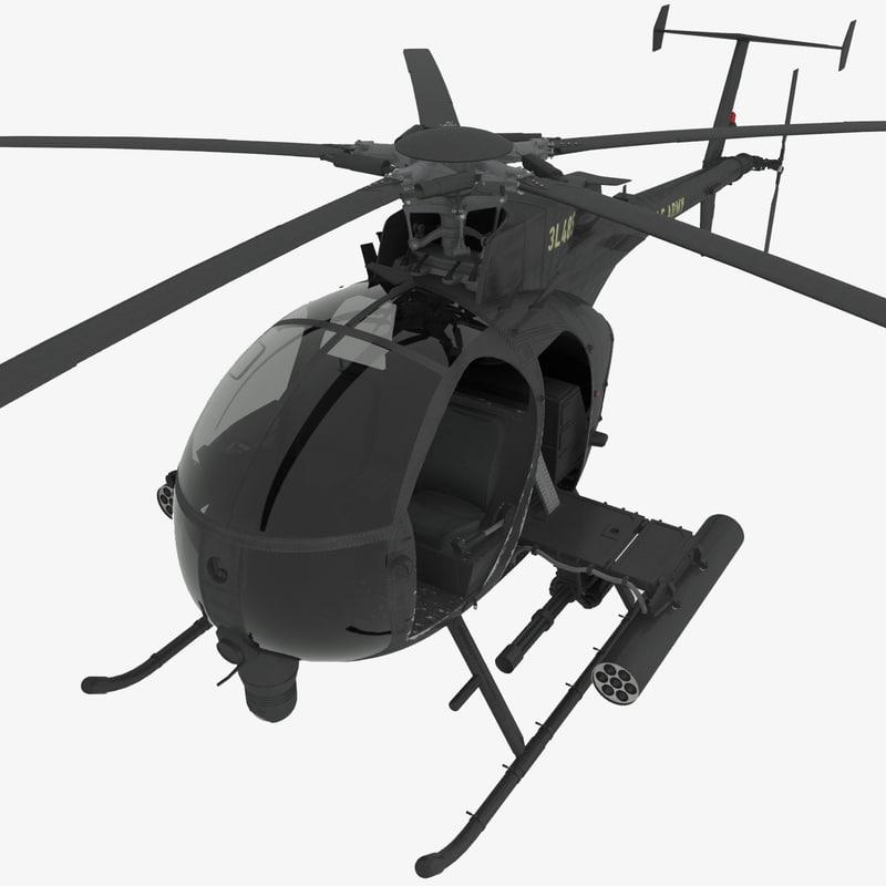 mh-6e little bird 3d max