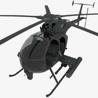 mh-6e little bird 3d max
