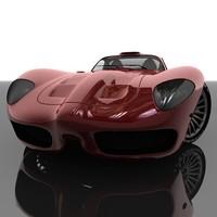 3d model of car sport