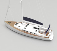 3d model recreational sailboat