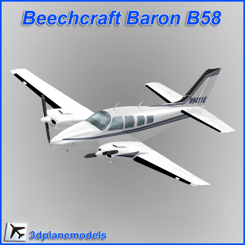 dxf beechcraft baron b58 private