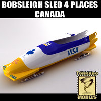 Bobsleigh Sled - 4 Places - Canada