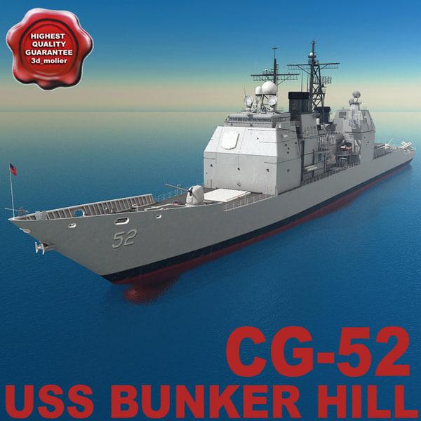 maya cg-52 uss bunker hill