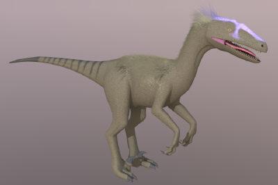 3d theropod deinonychus skinned