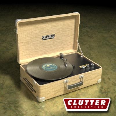 3ds max retro record player
