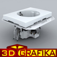 electric socket 3d max