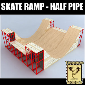 skate ramp - half pipe 3d ma