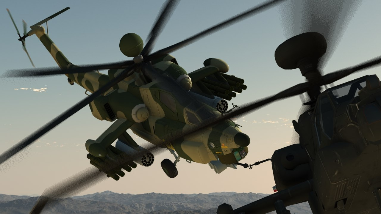 3d mi-28n havoc vs apache helicopter