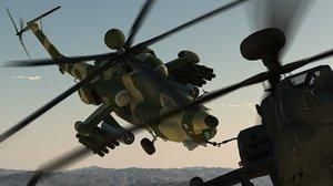 3d mi-28n havoc vs apache helicopter