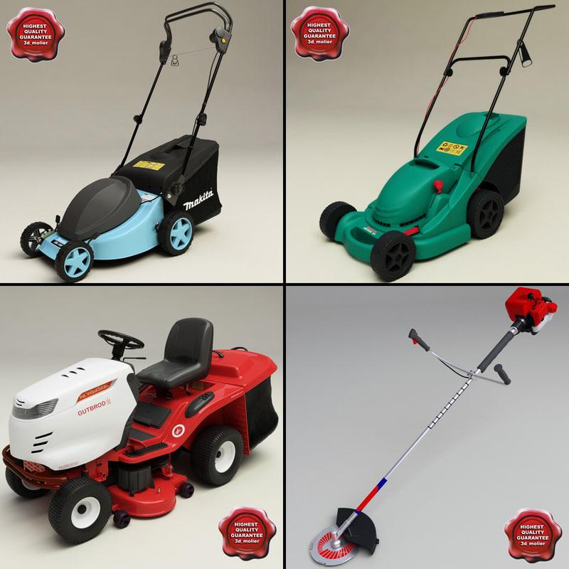 3d lawn mowers model