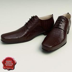 man shoes 3d 3ds
