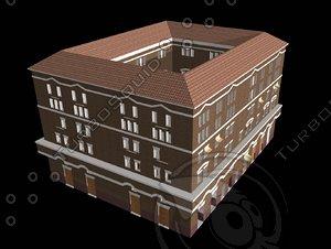 3d model large roman apartment housing