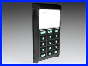 3d model of pinpad phone