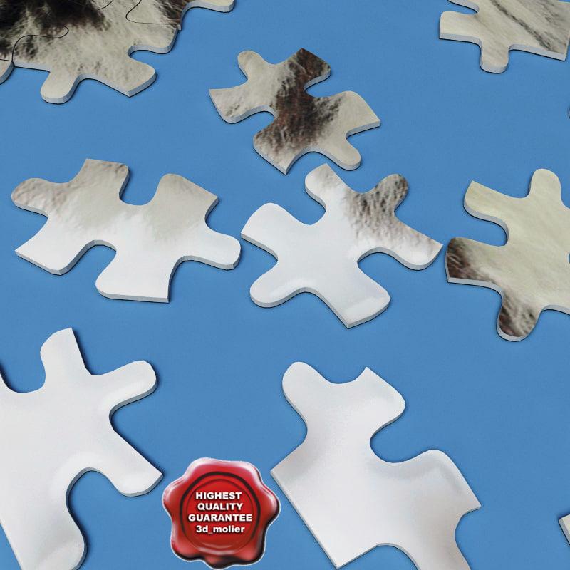 3d puzzle modelled scene model