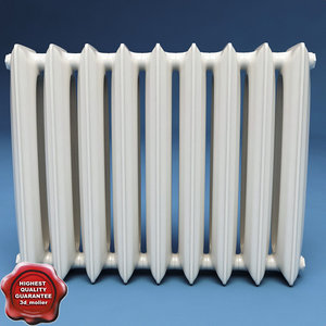 radiator interior modelled 3d max