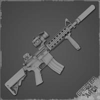 m4a1 carbine sof cqb 3d model