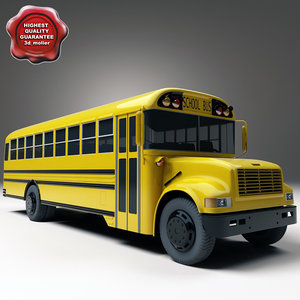 bus school 3d max
