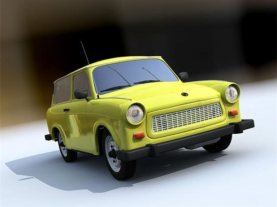 german car vehicle 3d model