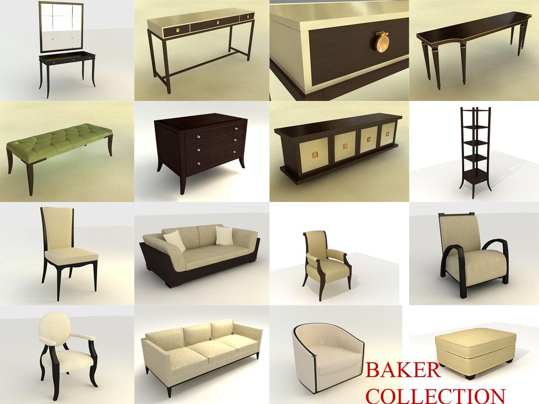 3d baker style furniture