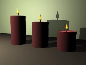 modern candles 3d max