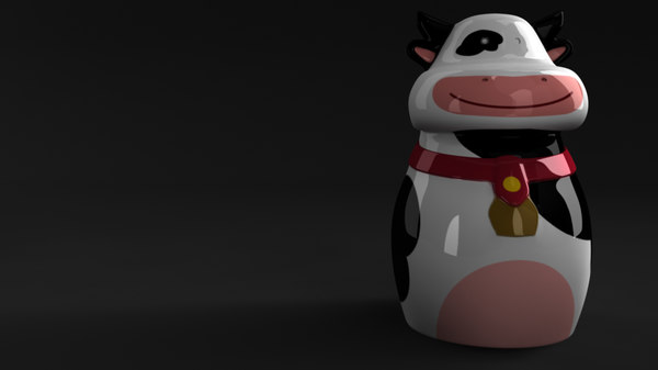 cow cookie jar 3d obj