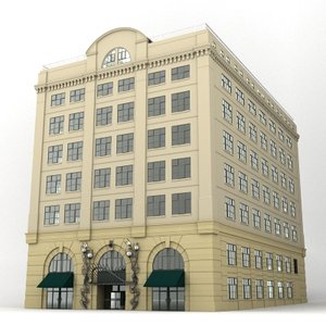 3d warehouse hotel office building model