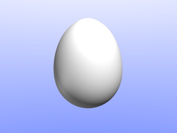 3d model of egg chicken dinosaur