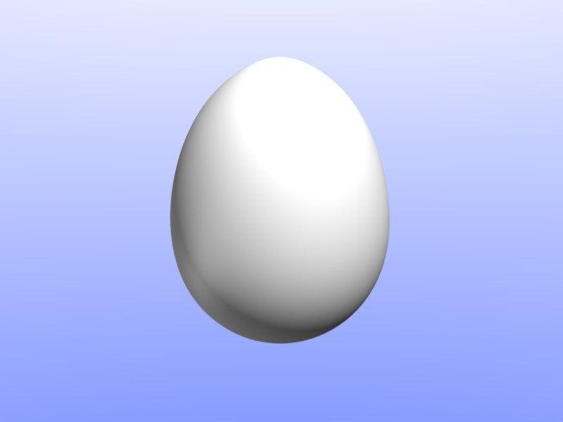 3d model of egg chicken dinosaur