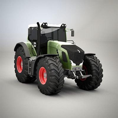 generic farm tractor 3d model