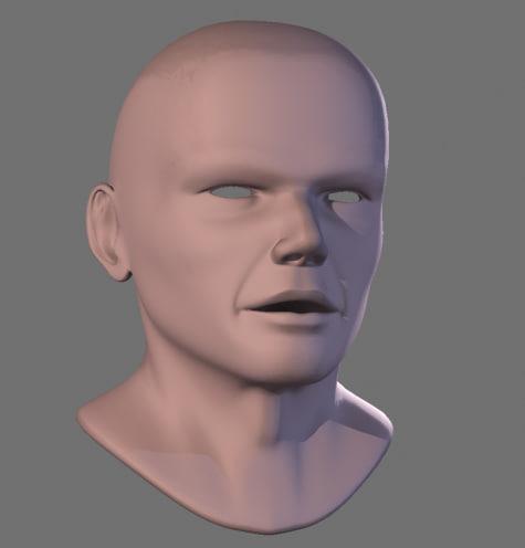 obj male face heads