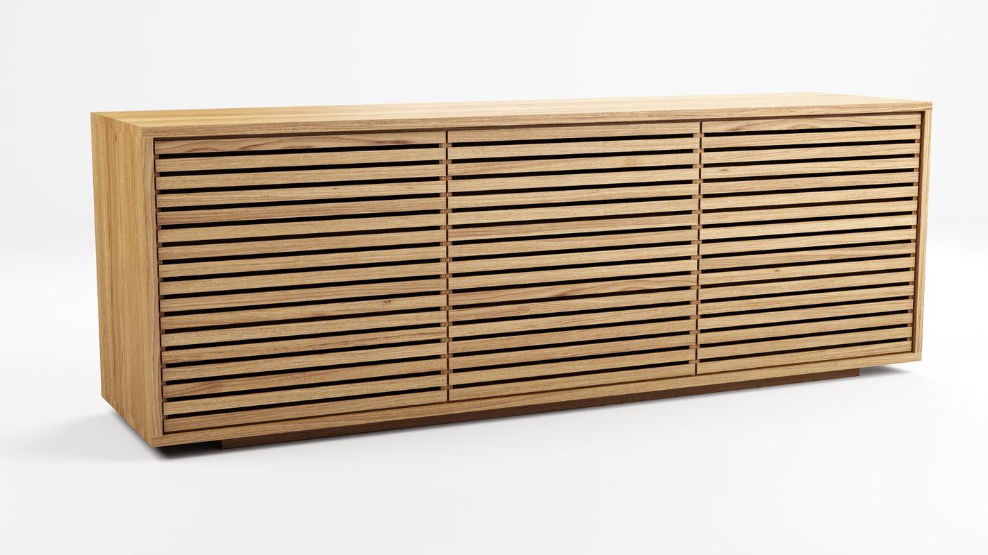 buffet habitat 3d model. Black Bedroom Furniture Sets. Home Design Ideas