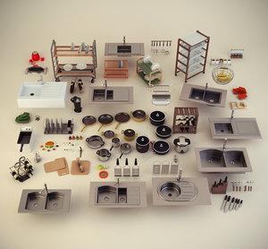 3dsmax kitchen accessories