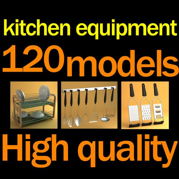 3ds max kitchen accessories equipment