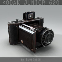 kodak junior 620 vintage camera 3d model