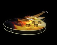 Fire les paul guitar