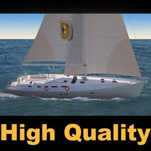 3d model oceanis sailboat