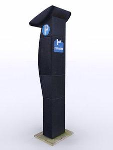 parking ticket machine 3d model