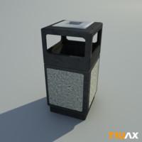 truax studio waste bin 3d max
