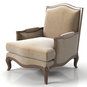 3dsmax henredon chair
