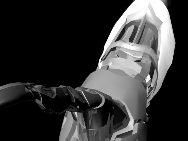 maya robodog futuristic animate