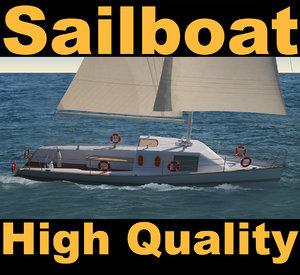 3d model sailboat sail boat