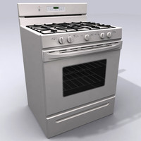 3d model kitchen stove oven