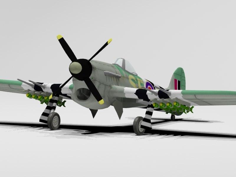 3d hawker typhoon model