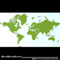 world maps 3d model