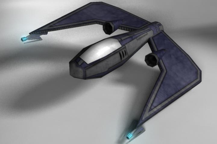 sci-fi space fighter 3d ma