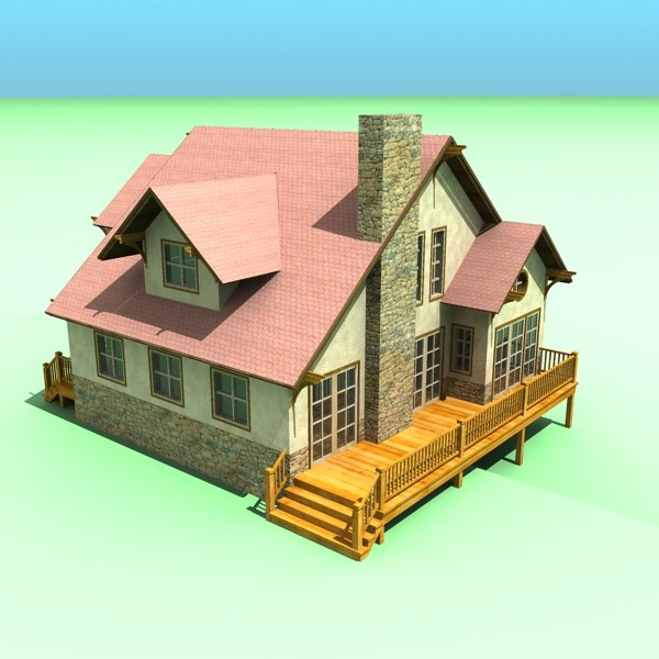 simple house 3ds