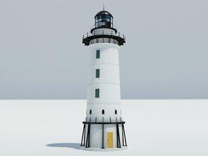 3d model light lighthouse