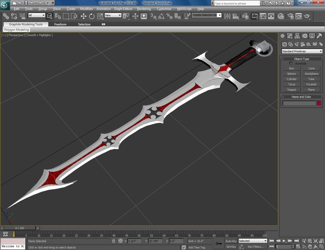 sword exodus 3d max